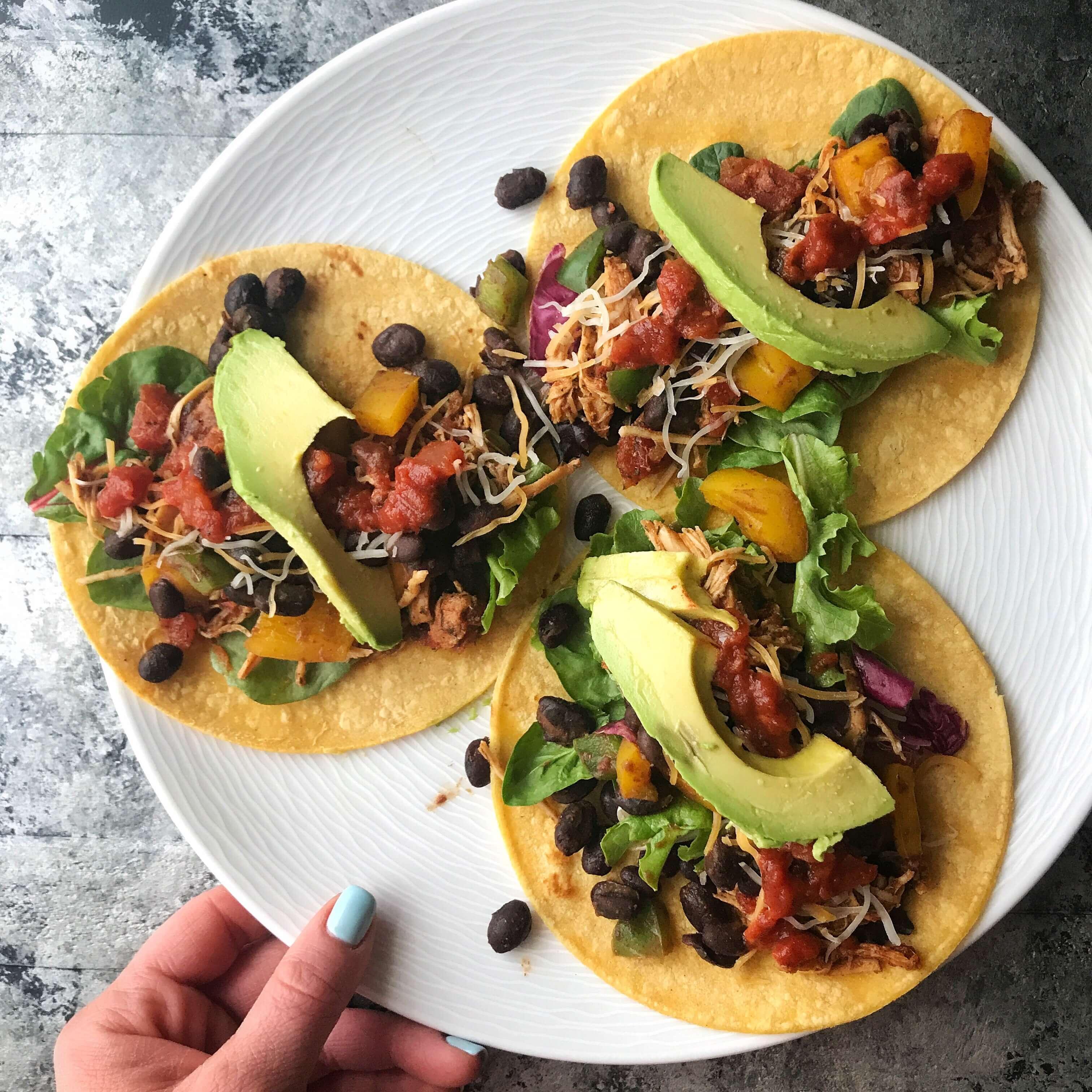 healthy foods dietitians keep in their fridges - grains, tacos