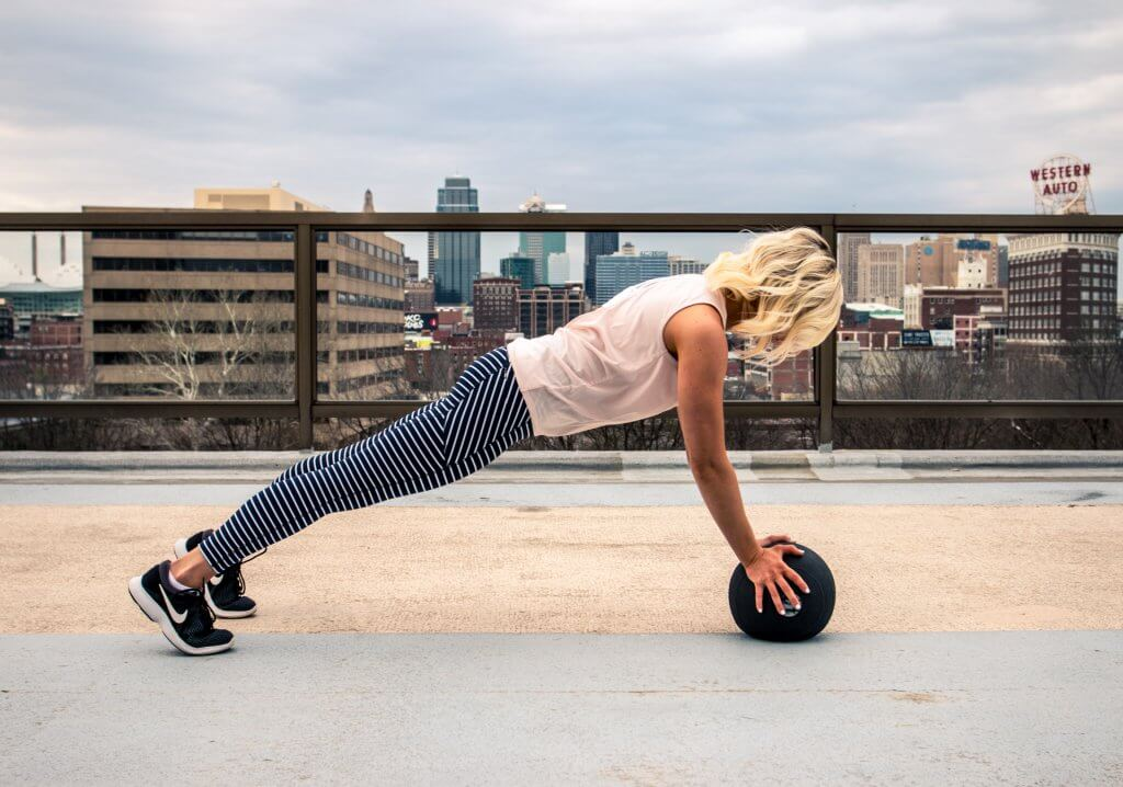 make early morning workouts happen - plank medicine ball