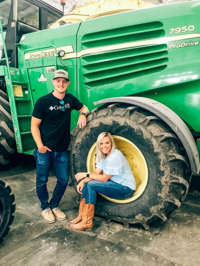 behind the scenes at a dairy farm tractor