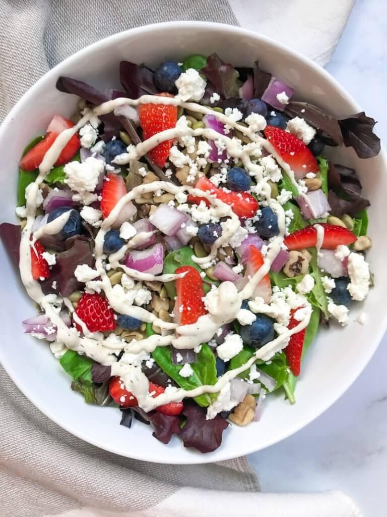 strawberry feta walnut salad dressing