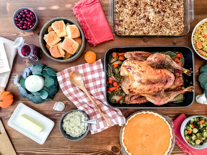Thanksgiving ALDI Feast; cranberry chia jam recipe, healthy sides