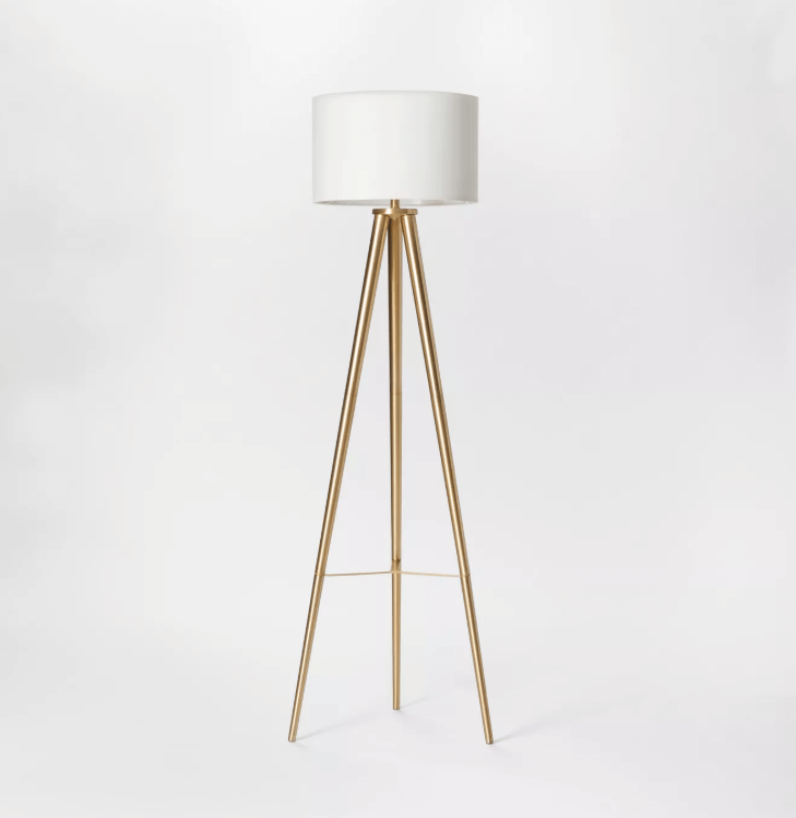 holiday gift guide for the home, target floor lamp gold