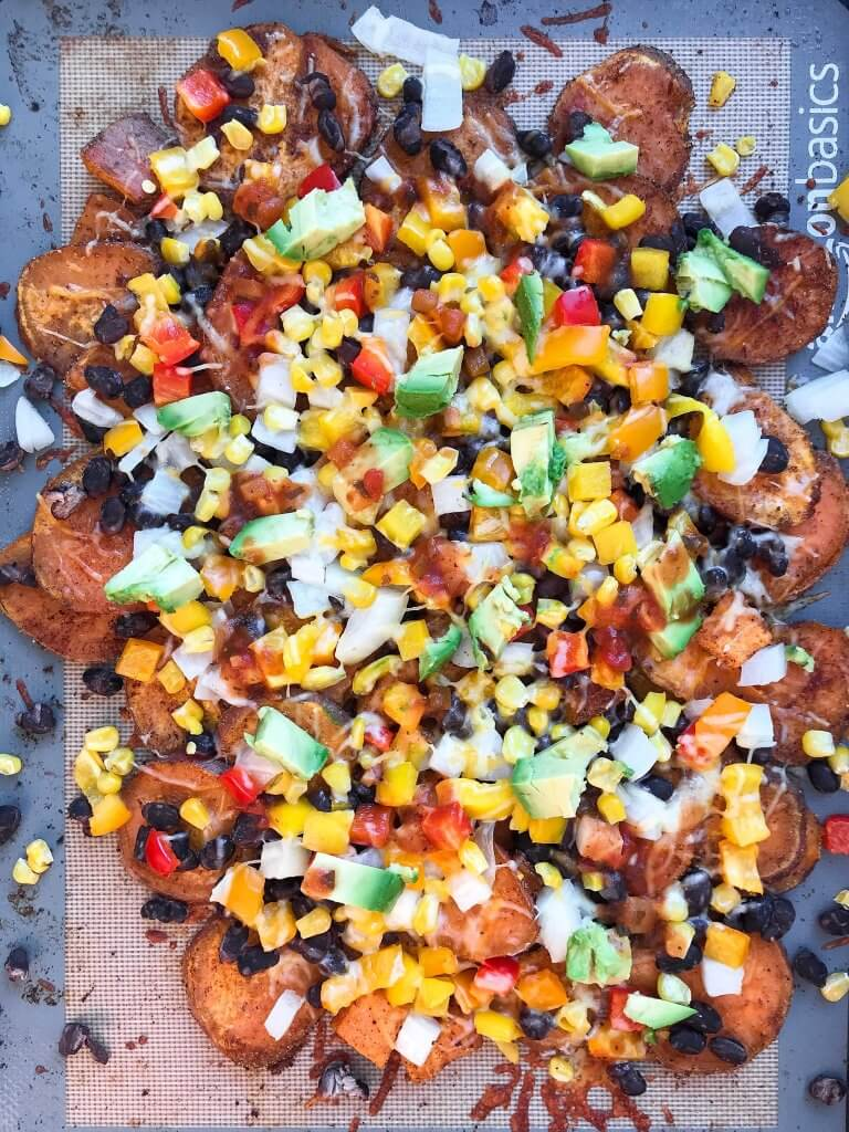 how to cook sweet potatoes, sweet potato nachos