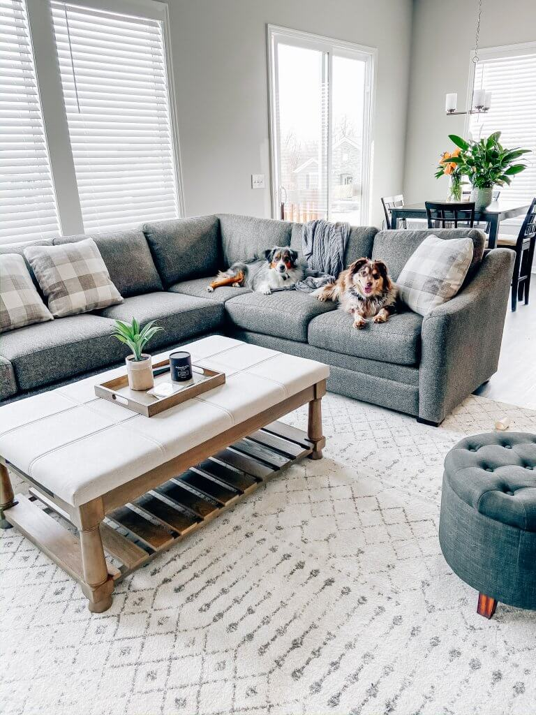 living room decor on a budget, sectional