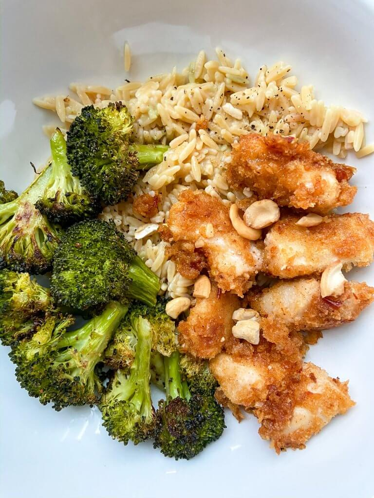 spicy almond cashew chicken