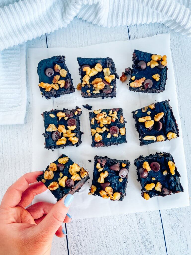 fudgy black bean brownies