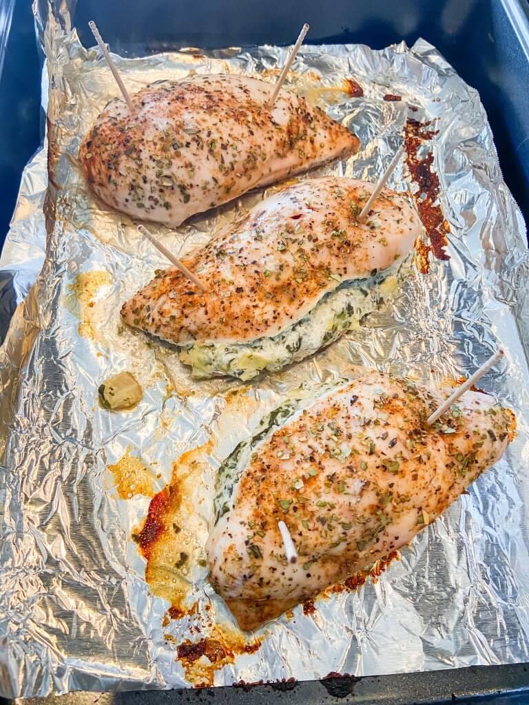 spinach artichoke stuffed chicken breast recipe