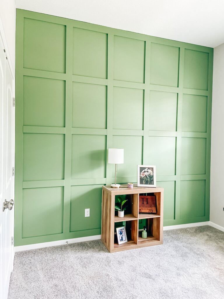 DIY board and batten wall; baby boy nursery