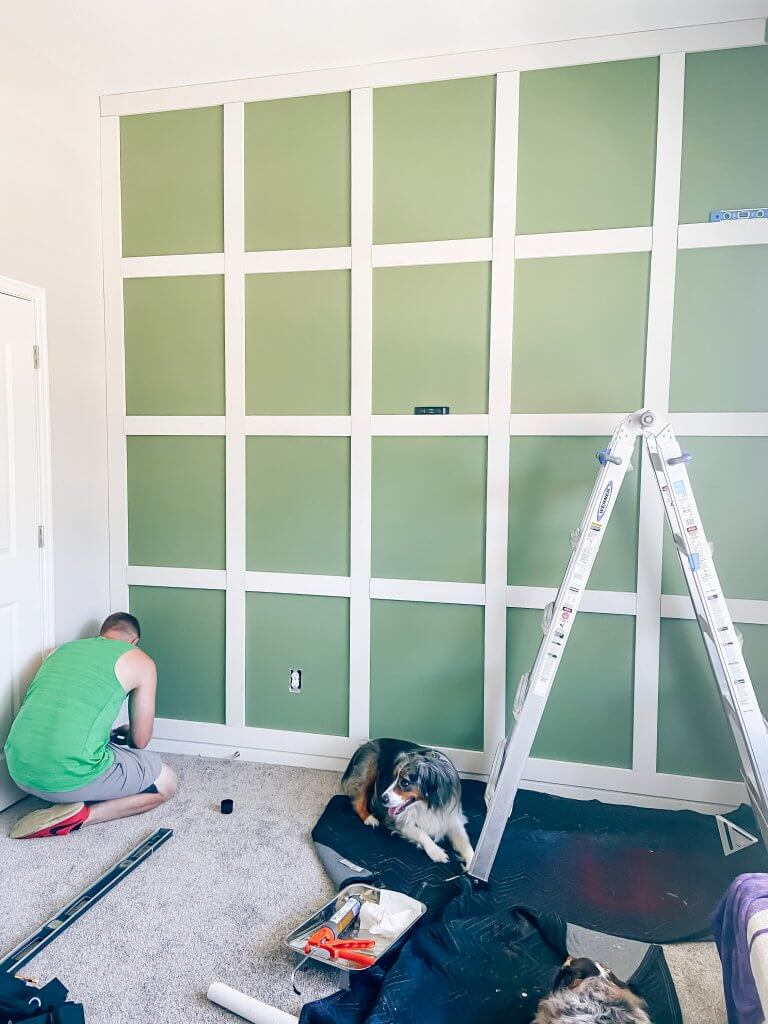 DIY board and batten wall; baby boy nursery inspiration