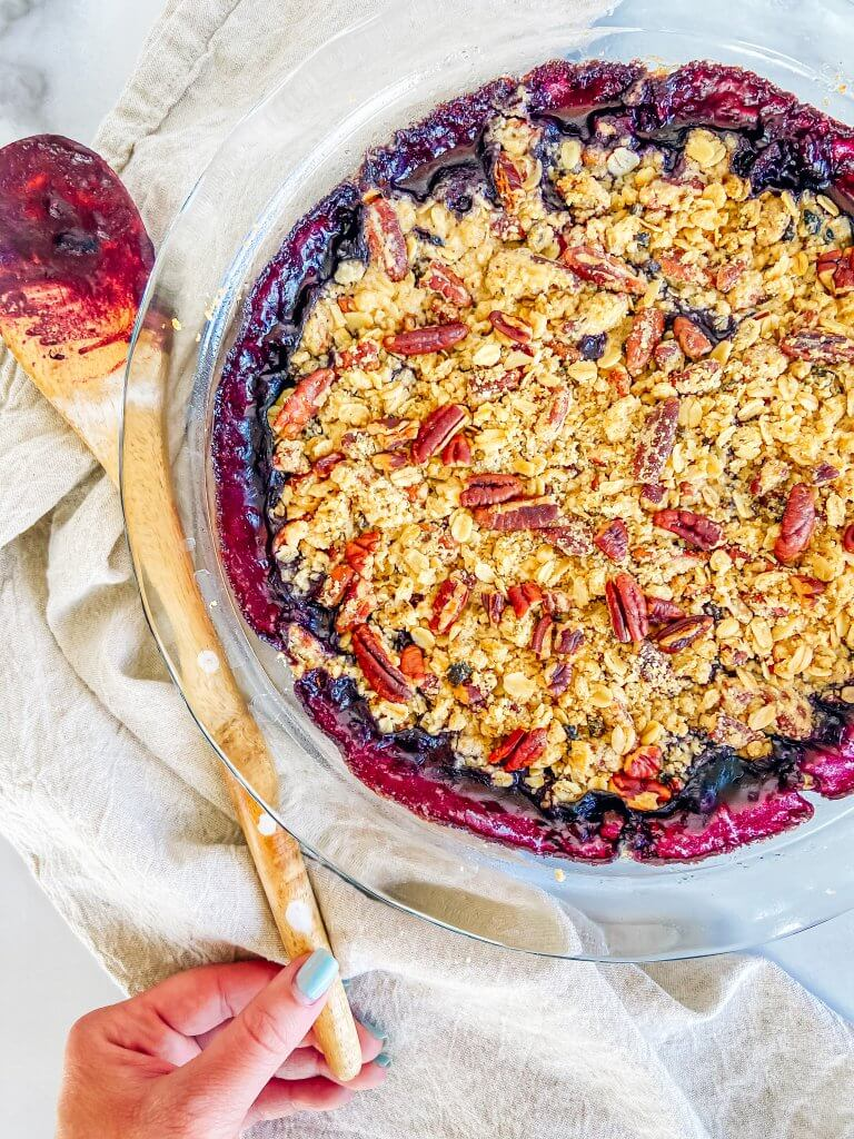 healthy berry crisp recipe