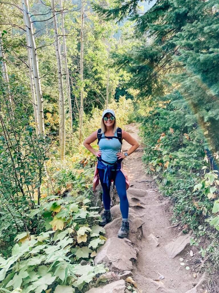 things to do in steamboat springs, colorado; hiking, fish creek falls, fit pregnancy