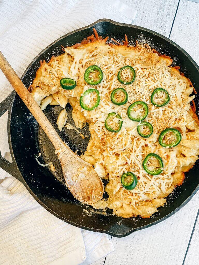 smoked mac & cheese; cabot cheese