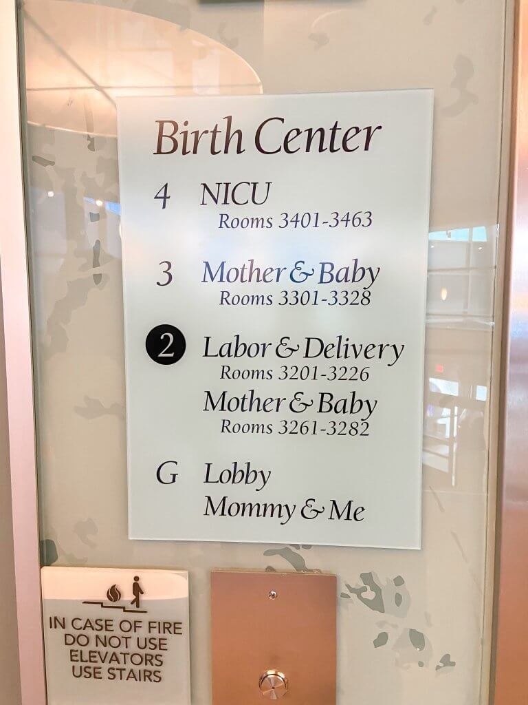 adventhealth shawnee mission birth center; different floors