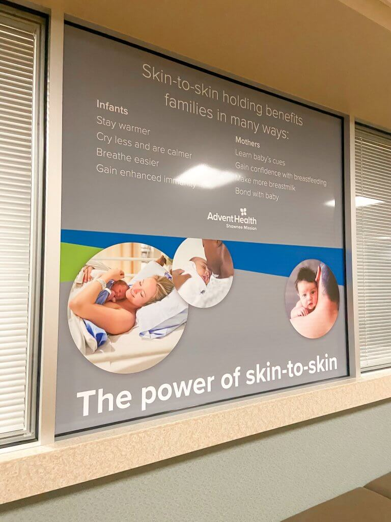adventhealth shawnee mission birth center; benefits of skin to skin