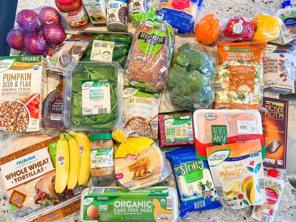 healthy living with ALDI USA; healthy grocery haul