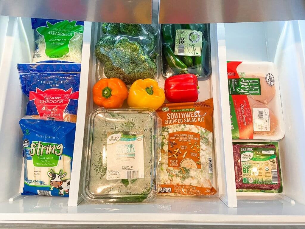 healthy living with ALDI USA; fridge staples, healthy eating