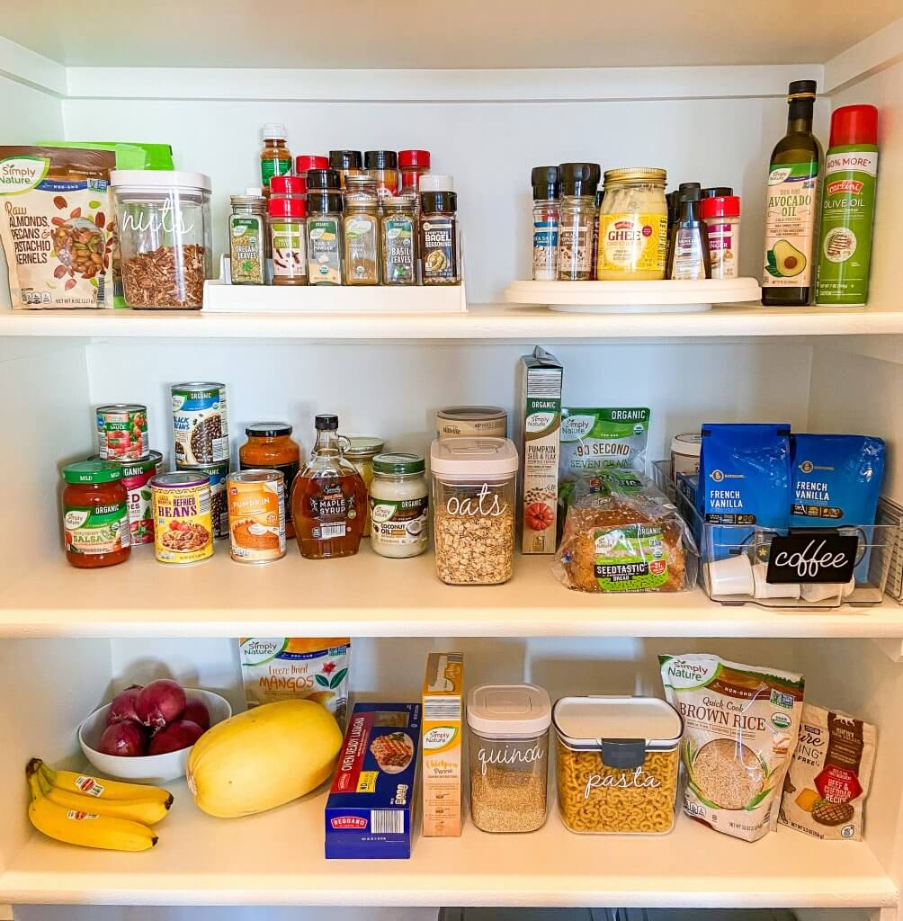 healthy living with ALDI USA; pantry organization