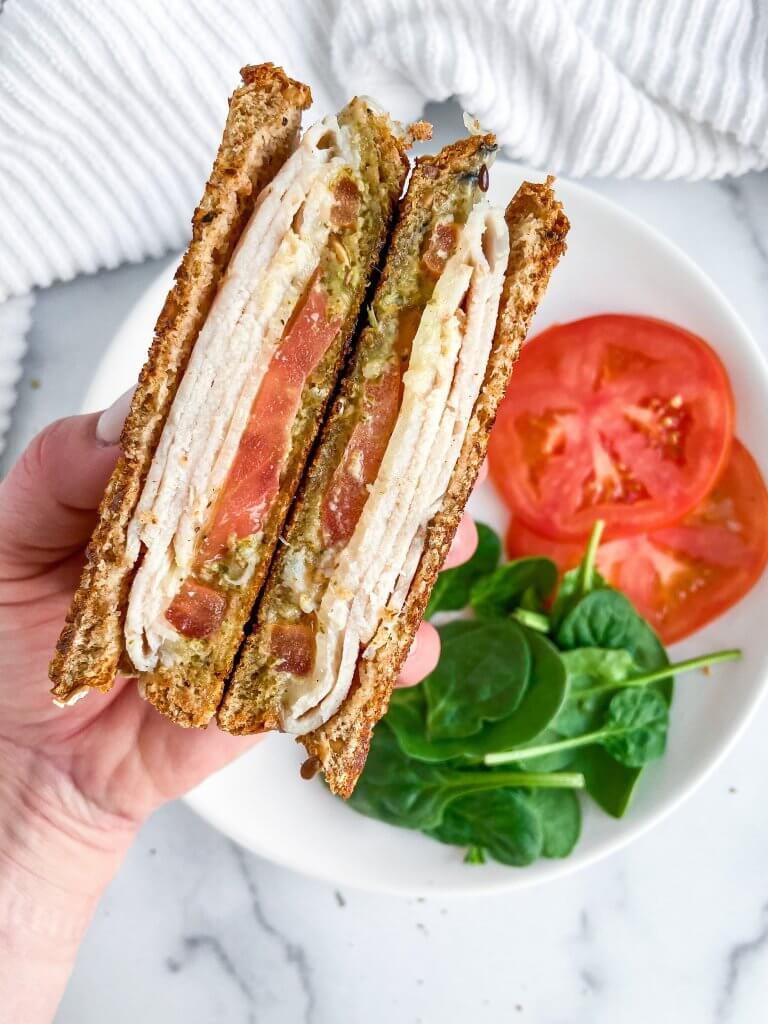 easy turkey pesto paninis