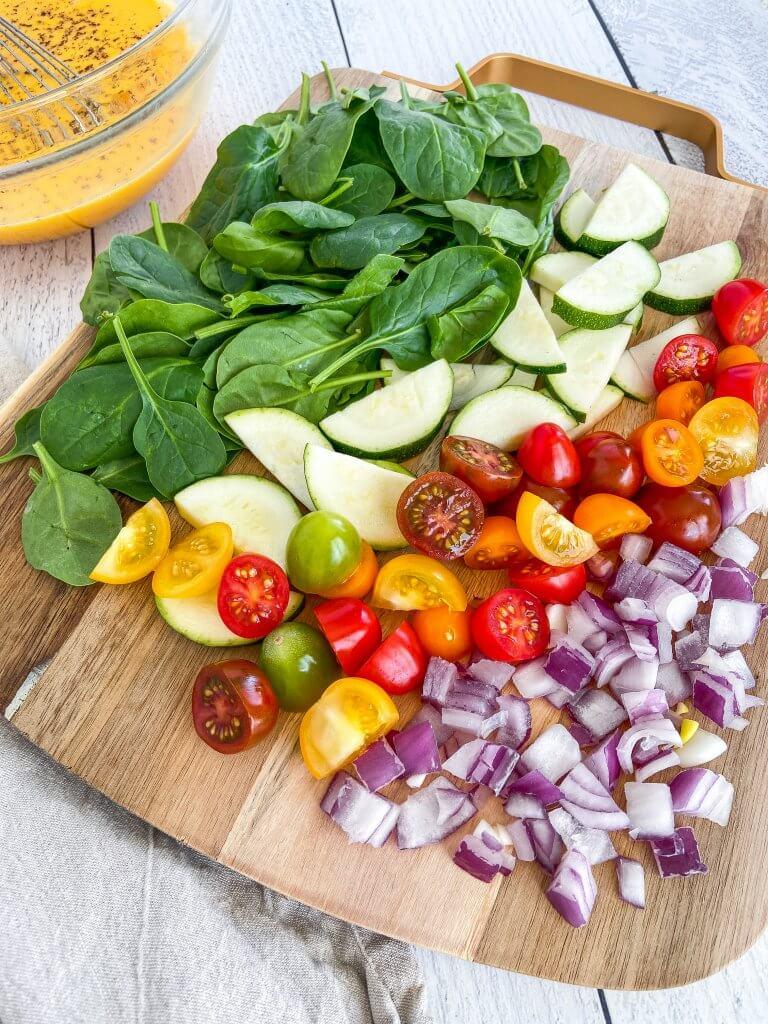 Healthy Vegetable Frittata ingredients