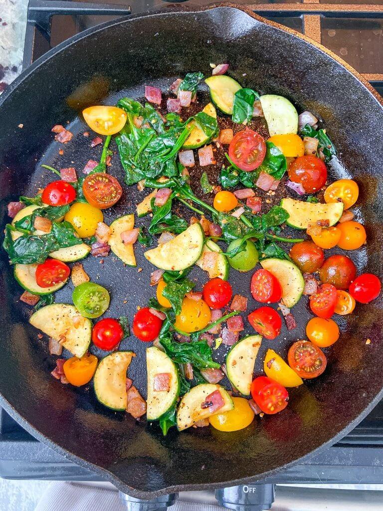 Healthy Vegetable Frittata / Ingredients