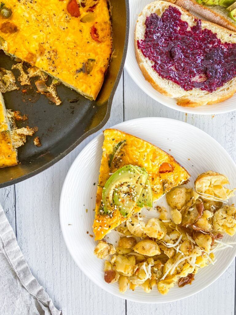 Healthy Vegetable Frittata / Serving Suggestions / Breakfast / Brunch