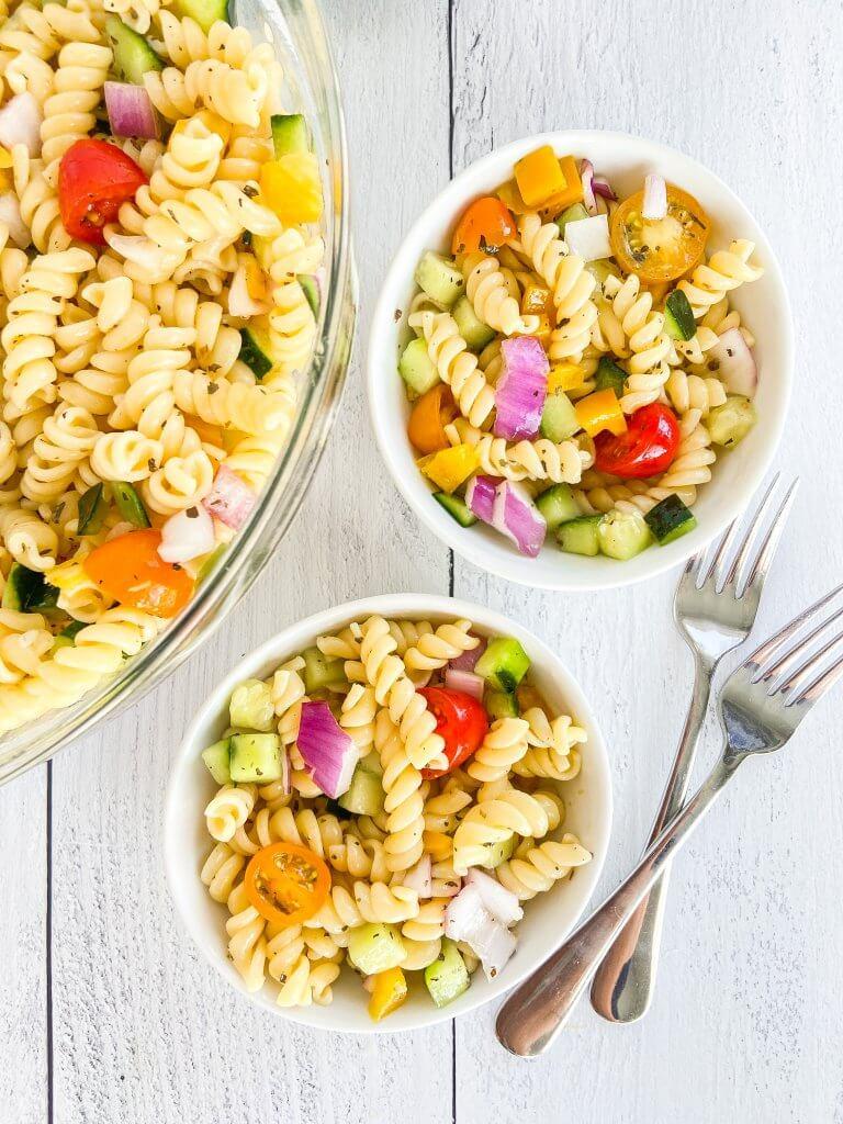healthy summer pasta salad, side dish