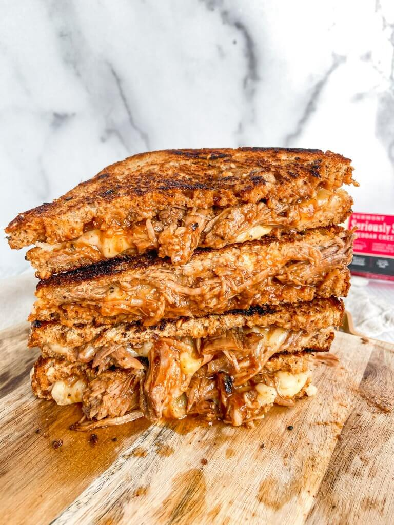 pulled pork grilled cheese recipe