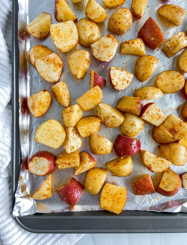 crispy roasted baby potatoes