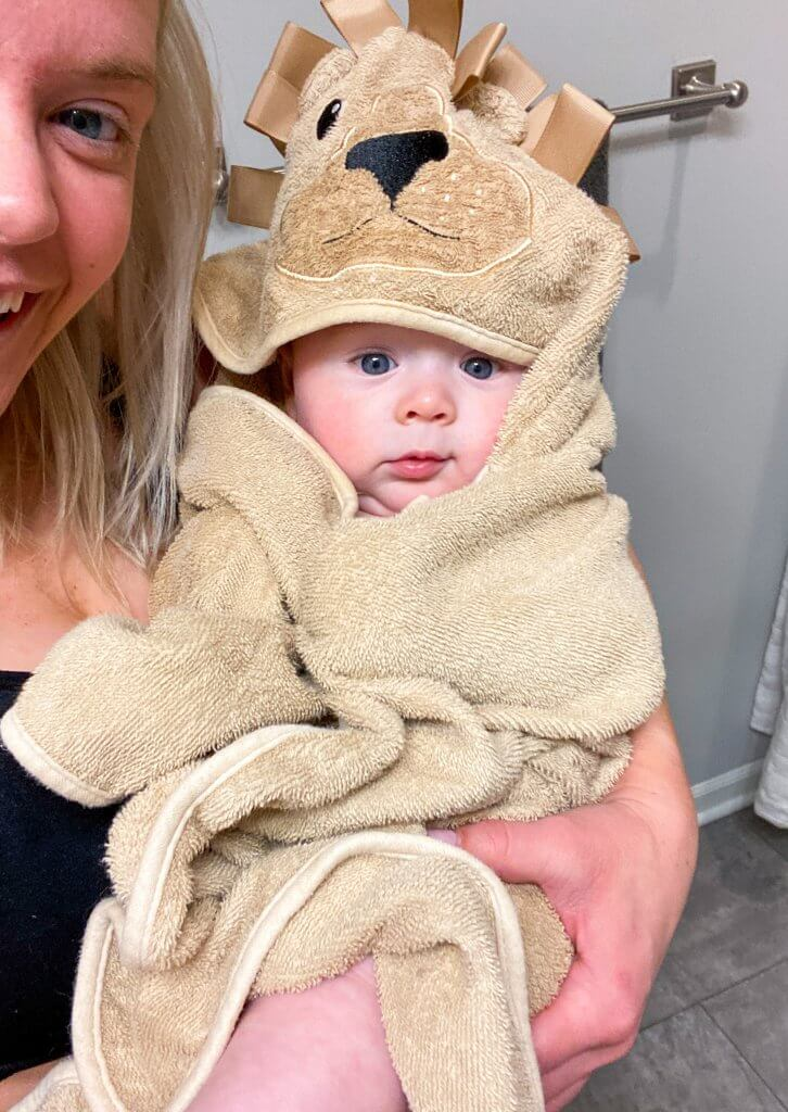 baby after bathtime