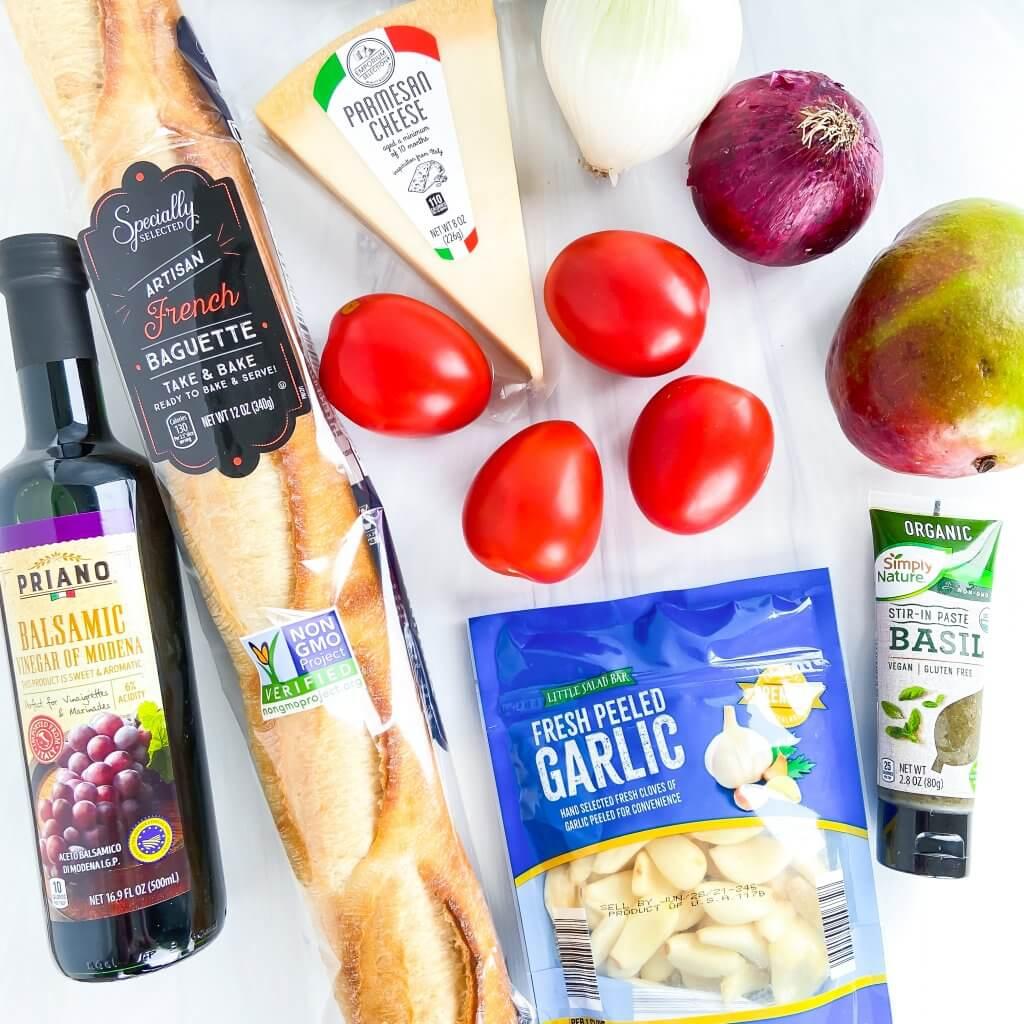 tomato mango bruschetta ingredients