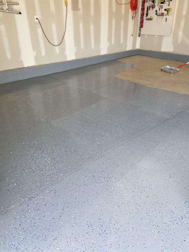 DIY epoxy garage floor tutorial
