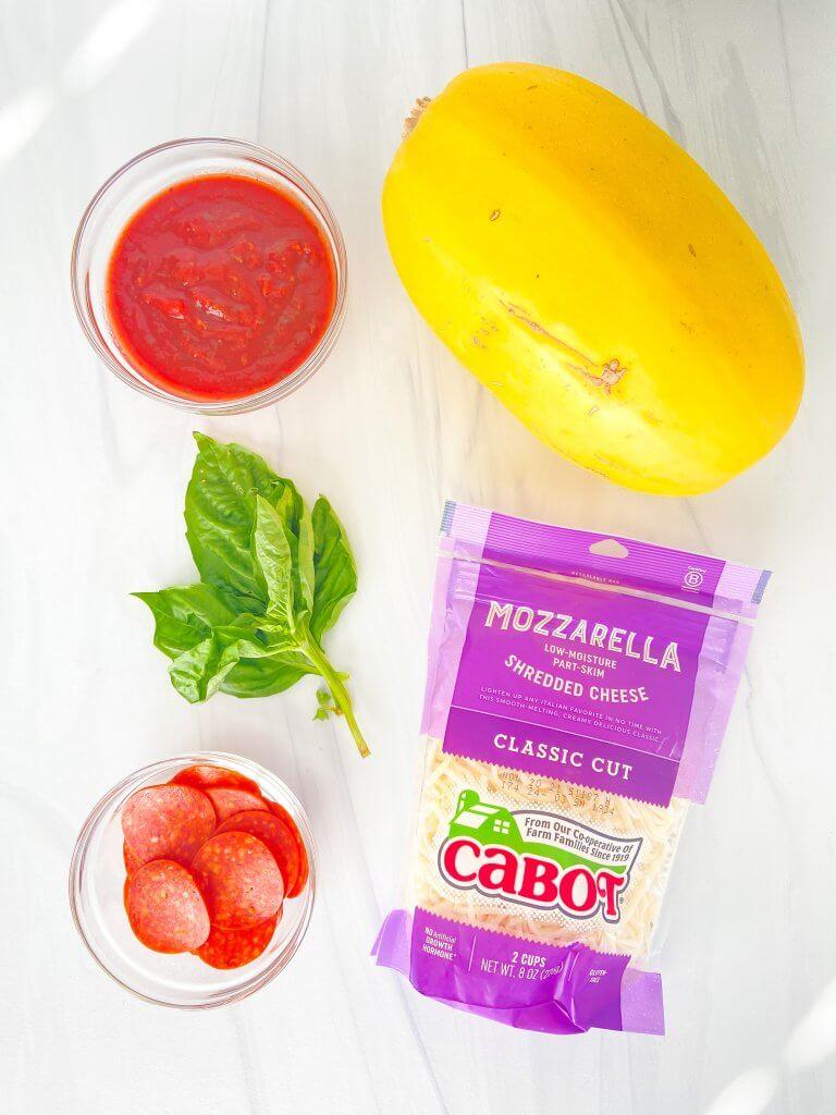 spaghetti squash pizza boats ingredients