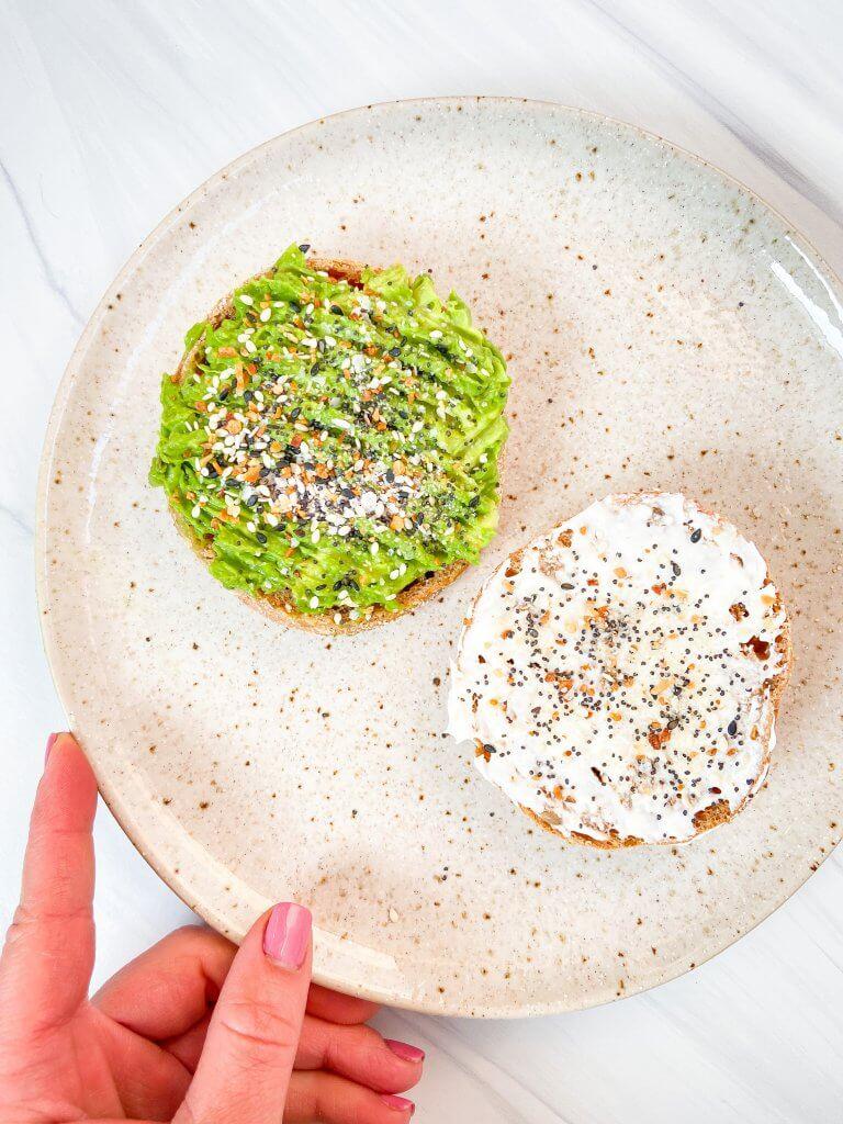 avocado egg breakfast sandwich step by step